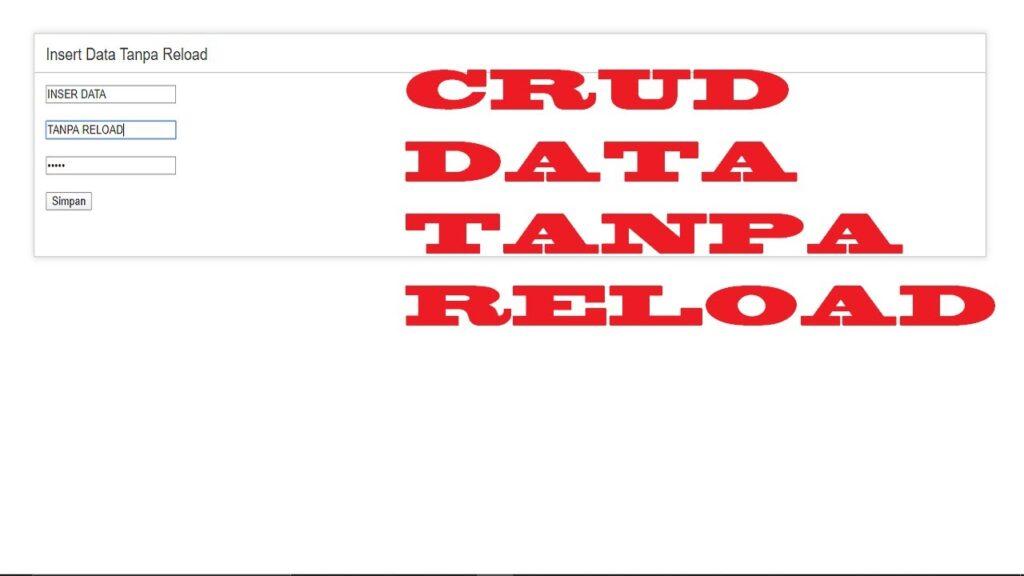 Crud Tanpa Reload Codeigniter