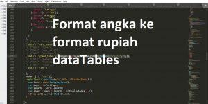 render format rupiah dataTables